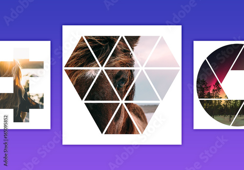 geometric photo mask set 5 buy this stock template and explore