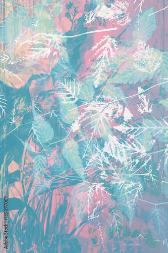 piekne-artystyczne-tlo-z-lisci-i-kwiatow-niebiesko-rozowa-roslinnosc