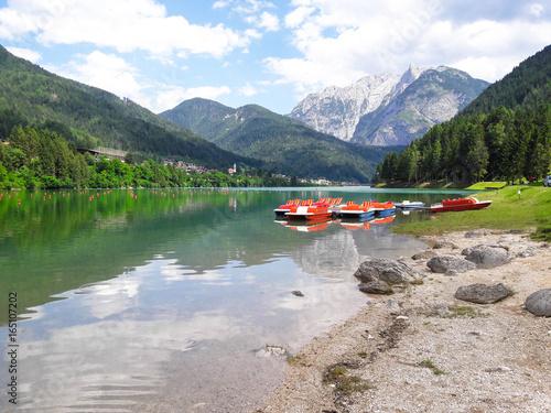 Fototapeta Lago di Santa Caterina in Südtirol obraz na płótnie
