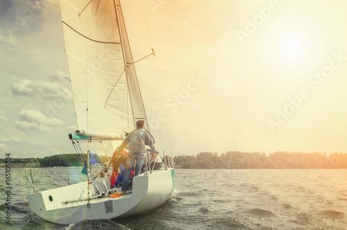Fotografiet  Sailing yacht race, regatta
