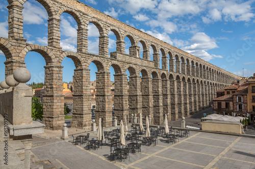 Fotografering Aqueduct of Segovia 9