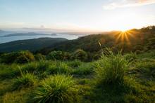 Sunset On Tagaytay Hills Towar...