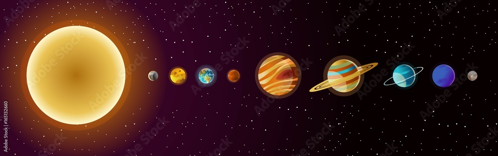 Fototapety, obrazy: solar system planets and sun