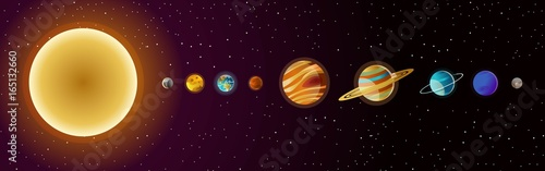 Fotografie, Obraz  solar system planets and sun