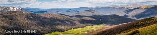 Poster de jardin Parc Naturel Sun Valley in the Rocky Mountains. Picturesque panorama of the nature of Colorado