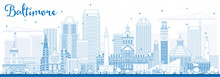 Outline Baltimore Skyline With...
