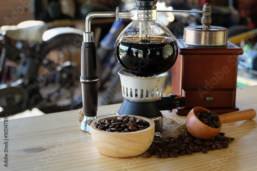 Photo siphon coffee