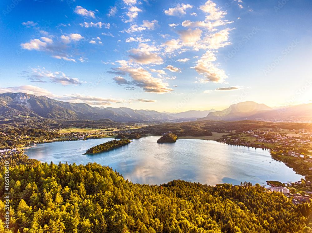 Faaker See w Karyntii, Austria