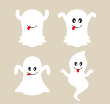 Cute Ghost Cartoon Collection.