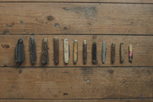 Collection Of Old Pocket Knives