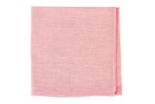 Folded Pink Textile Napkin On White