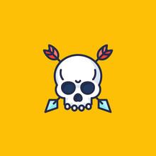 Skull With Arrows Vector Icon