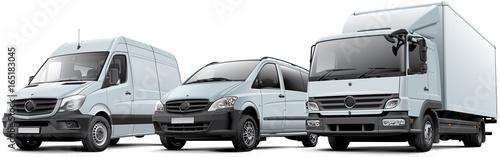 Obraz na plátne Three commercial vehicles