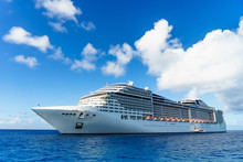 Cruise Ship In Crystal Blue Water