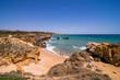A view of a praia sao rafael in albufeira algarve region portugal. summer vocation concept