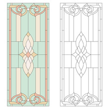 Stained-glass Pattern In Classic Style. Vector