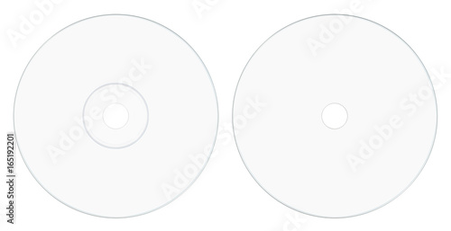 Canvas Print disc label side white