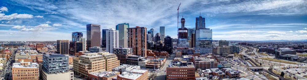 Fototapeta Downtown Denver Pano Southeast