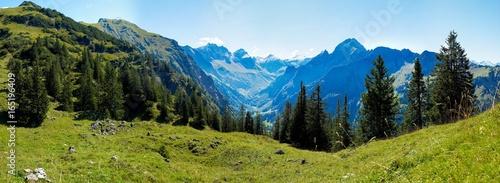 Plissee mit Motiv - Berge Alpen Oberstdorf Deutschland Österreich (von WB-STEFAN)