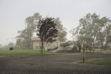Dust Storm Hitting A Campground