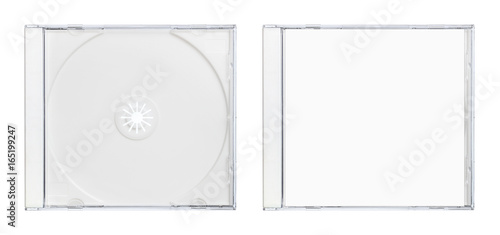 Obraz disc case white - fototapety do salonu