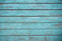 Blue Faded Painted Wooden Text...