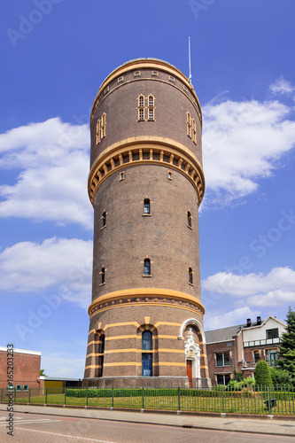 Fotografie, Obraz The iconic water tower in Tilburg, The Netherlands, built in 1897 and designed by architect H