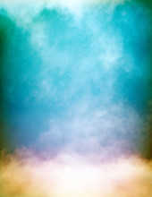 Multicolored Fog And Clouds On Textured Paper