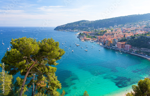 view on luxury bay on cote d'azur in south France Wallpaper Mural