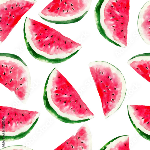 akwarela-bezszwowe-wzor-arbuza-jaskrawa-tropikalna-owoc-odizolowywajaca-na-bialym