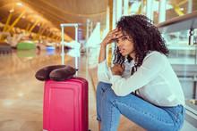 Black Woman Upset And Frustrat...