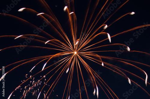 Fotografie, Obraz  Fireworks orange