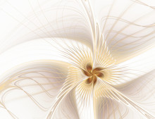Abstract Fractal Beige Flower