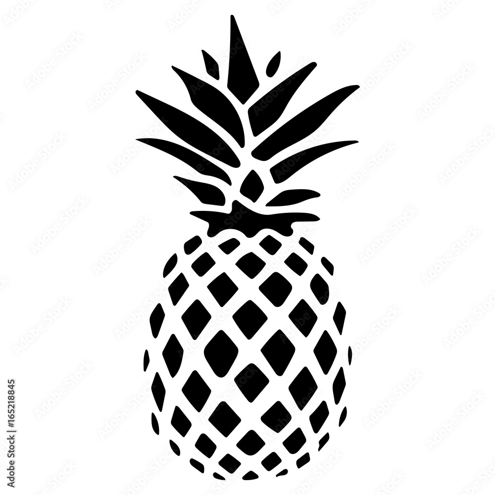 Fototapeta ananas logo