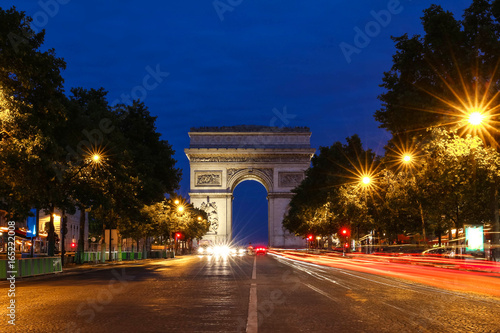Papiers peints Paris The Triumphal Arch in evening, Paris, France.