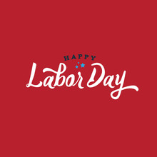 Happy Labor Day Text, Vector I...
