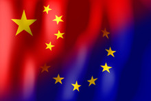 China And European Union Flags