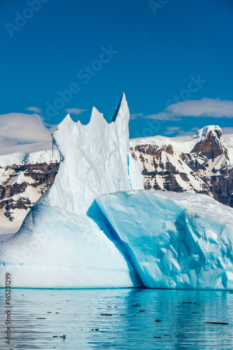 Deurstickers Antarctica Icebergs along the Antarctic Peninsula