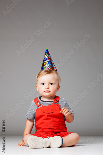 Baby Birthday Boy With Hat