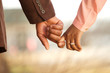 canvas print picture - Portrait of an African American loving couple.