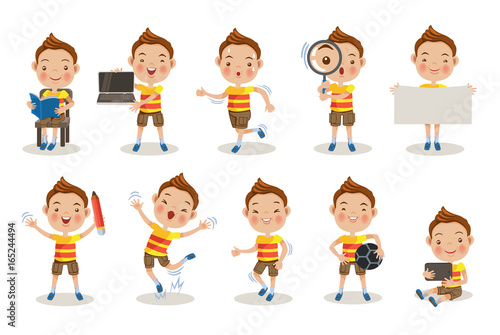 Why Are Kids Different At Home And At >> Boy Poses Kids Different Pose About Learning At School Or