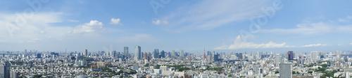 東京風景 パノラマ 7月 恵比寿からのぞむ都心全景