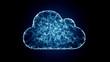 Leinwandbild Motiv cloud computing, IT symbol of the cloud technologies