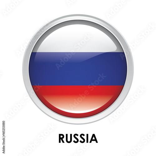 Fotografia  Round flag of Russia