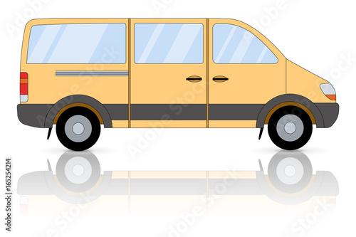 Fotografie, Obraz  Yellow minibus