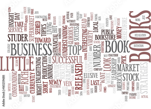 The Most Popular Business Books Text Background Word Cloud Concept