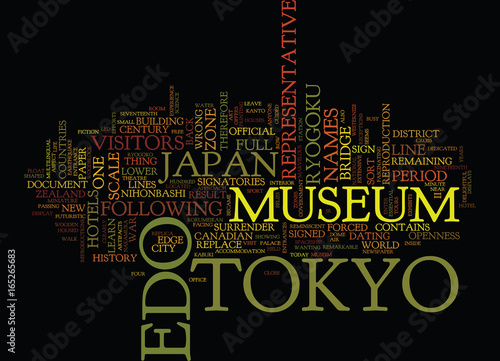 Photo  THE EDO TOKYO MUSEIM Text Background Word Cloud Concept
