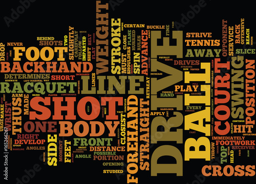 THE DRIVE IN TENNIS Text Background Word Cloud Concept Canvas-taulu