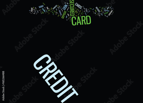 Fotografie, Obraz  THE DOS AND DON TS OF SECURED CREDIT CARDS Text Background Word Cloud Concept