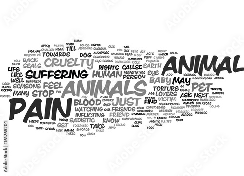 Valokuva  THE CRUEL FOOL GODS PAYBACK ANIMAL CRUELTY Text Background Word Cloud Concept